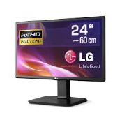 + VAT Grade A 24 Inch FULL HD IPS LED MONITOR WITH SPEAKERS - D-SUB HDMI