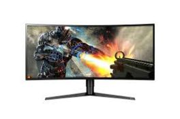 + VAT Grade A 34In CURVED ULTRAWIDE QHD GAMING MONITOR WITH FREESYNC 2 - HDMI x 2 DISPLAY PORT USB