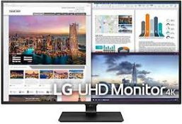 + VAT Grade A 43In 4K ULTRA HD IPS LED MONITOR - HDMI DISPLAY PORT USB TYPE C - SPEAKERS