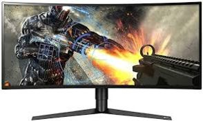 + VAT Grade A 34In CURVED ULTRAWIDE QHD GAMING MONITOR WITH G-SYNC - HDMI x 2 DISPLAY PORT USB 3.