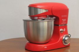 + VAT Brand New 1600W Kitchen Mixer 5.5L Capacity - Stainless Steel Bowl - 6 Speeds - Supplied With