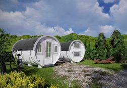 + VAT Brand New 2.2 x 3.3m Barrel For Sleeping - Sleeping & Sitting Rooms Inside - Sleeping Room