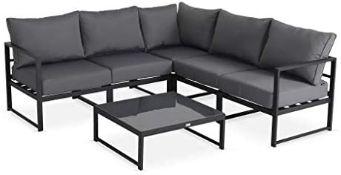 + VAT Brand New Chelsea Garden Company Aluminium Framed Adjustable Five Seater Corner Sofa Set And
