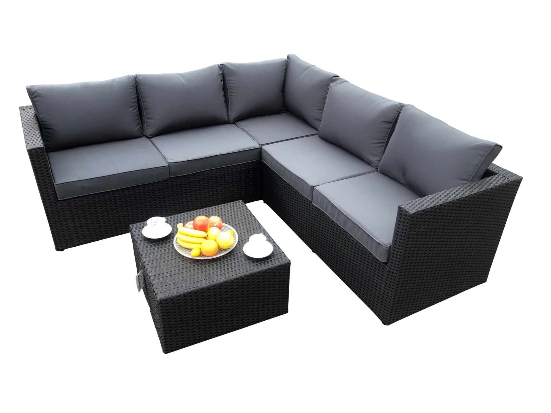 + VAT Brand New Chelsea Garden Company Six Seater Rattan Corner Sofa Set With Table - Steel Frame - - Image 2 of 2