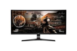 + VAT Grade A LG 34 Inch UltraGear 2560 x 1080 21:9 Curved 144 Hz Adaptive-Sync IPS Gaming Monitor