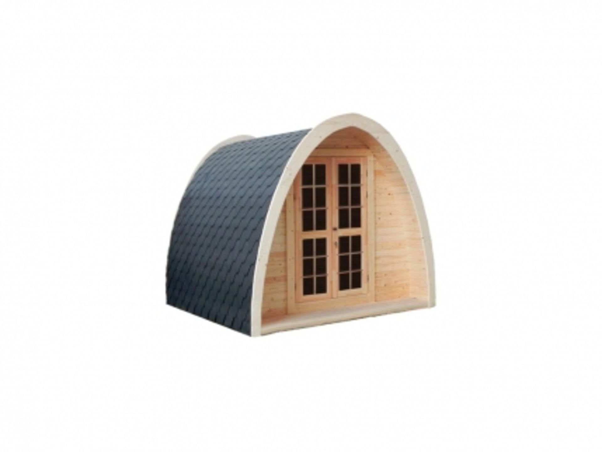 Lot 19051 - + VAT Brand New 2.4 x 2.4m Camping Pod - Pod is Made From Spruce - Roof Covered With Bitumen