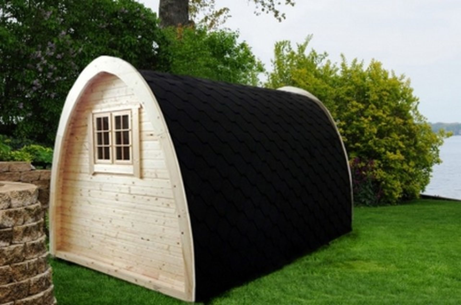 Lot 19058 - + VAT Brand New 4 x 2.4m Camping Pod Made from Spruce - Double doors with Lock and Double Glass