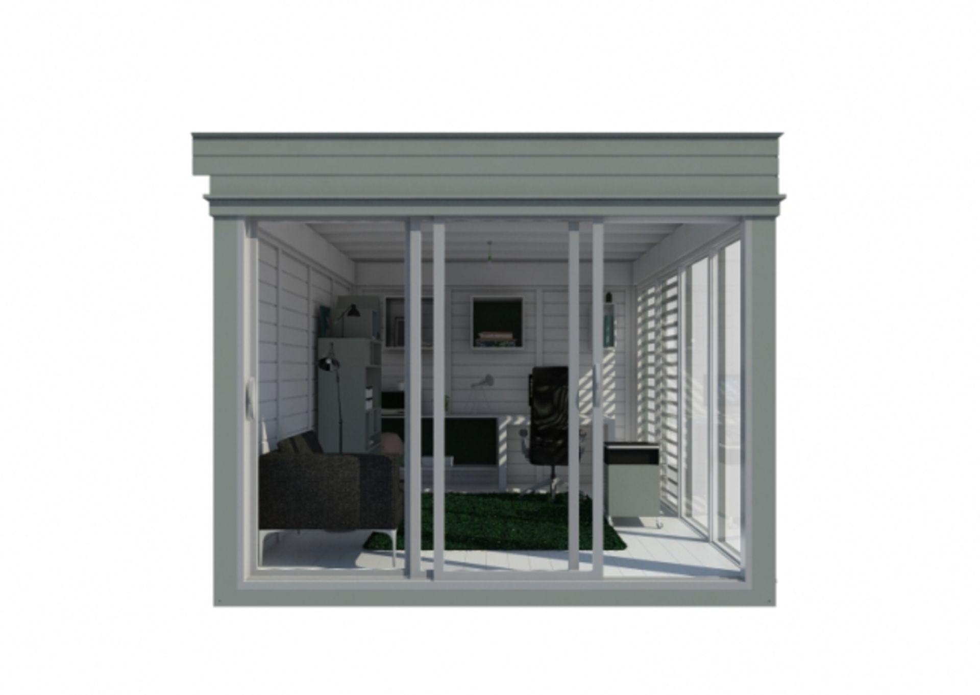 Lot 19034 - + VAT Brand New Insulated 3m x 4m Garden Office Cube With Glass Sliding Doors - Sunscreen