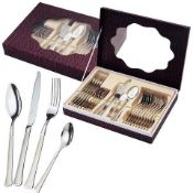 + VAT Brand New Waltman and Sons 24 Piece Polished and Stainless Steel Cutlery set (Pattern is
