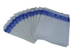 + VAT Brand New Pack of Twelve Linen Union Glass Cloths (As used by all the best professional