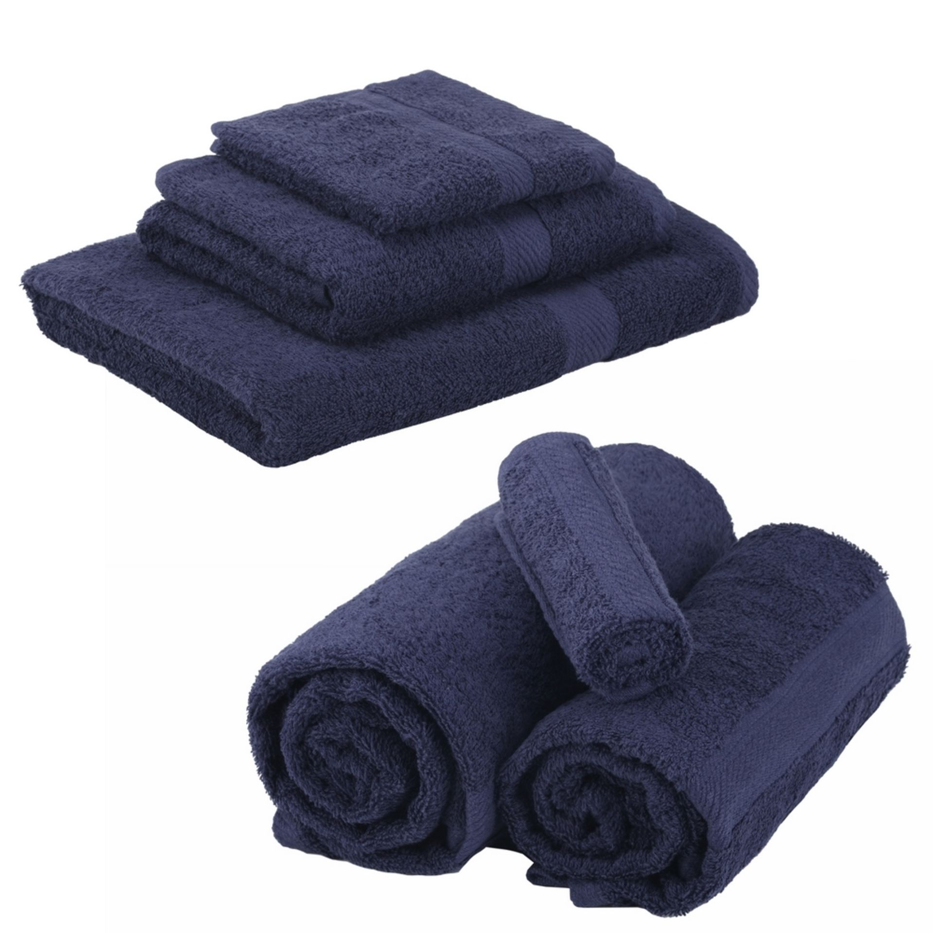+ VAT Brand New Royal Blue 6 Piece Towel Bale Set With 2 Face Towels - 2 Hand Towels And Two Bath