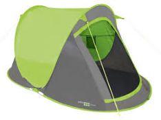 + VAT Brand New Green Fast Pitch Pop Up 2 Man Tent
