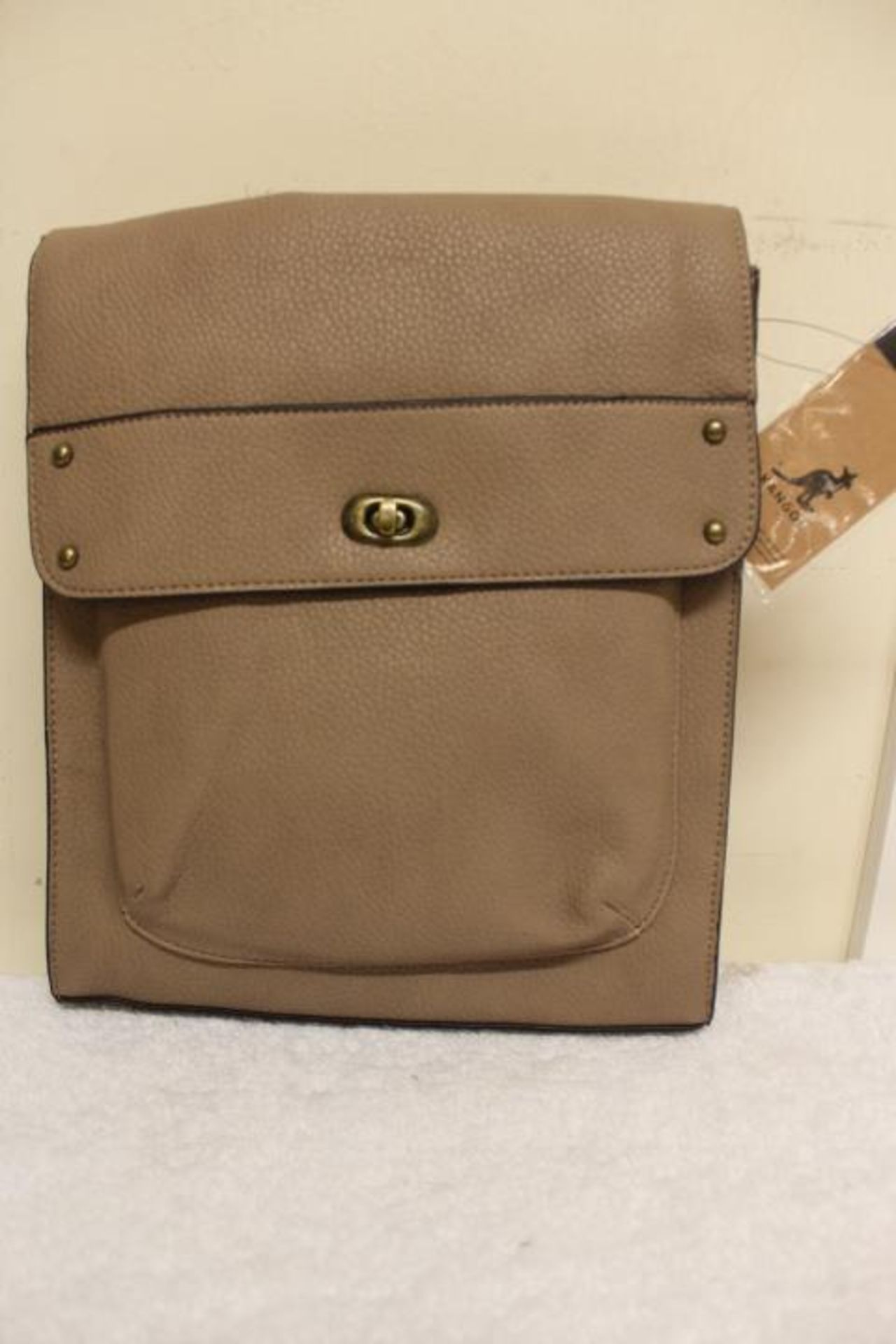 + VAT Brand New Kangol Brown Turnlock Crossbody Bag