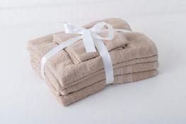 + VAT Brand New Beige 6 Piece Towel Bale - 2 x Face Cloth - 2 x Hand Towel - 2 x Bath Towel