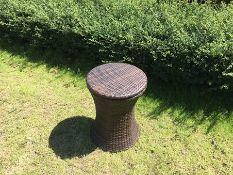 + VAT Brand New Chelsea Garden Company Rattan Bar Table With Metal Ice Cooler - Finished In