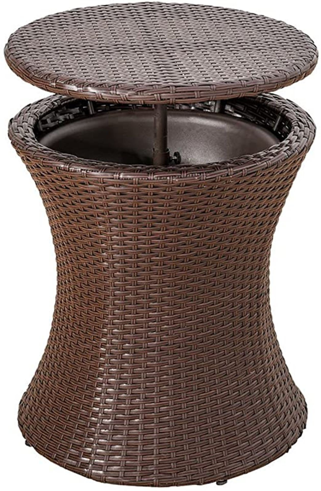 + VAT Brand New Chelsea Garden Company Rattan Bar Table With Metal Ice Cooler - Finished In - Image 2 of 3