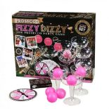 + VAT Brand New Ultimate 20pce Fizzy Dizzy Prosecco Party Game - Includes Prosecco Glasses - Pink