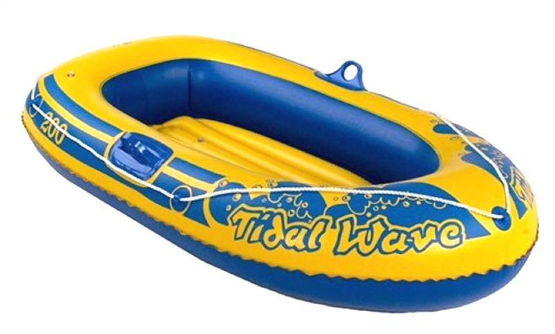 + VAT Brand New 89 Inch By 51 Inch Inflatable Dinghy - Repair Patch Included, Heavy Guage PVC And 4