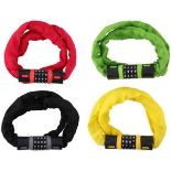 + VAT Brand New Dunlop Combination Chain Lock - Plastic Coated To Protect Bike Paintwork - Item Is