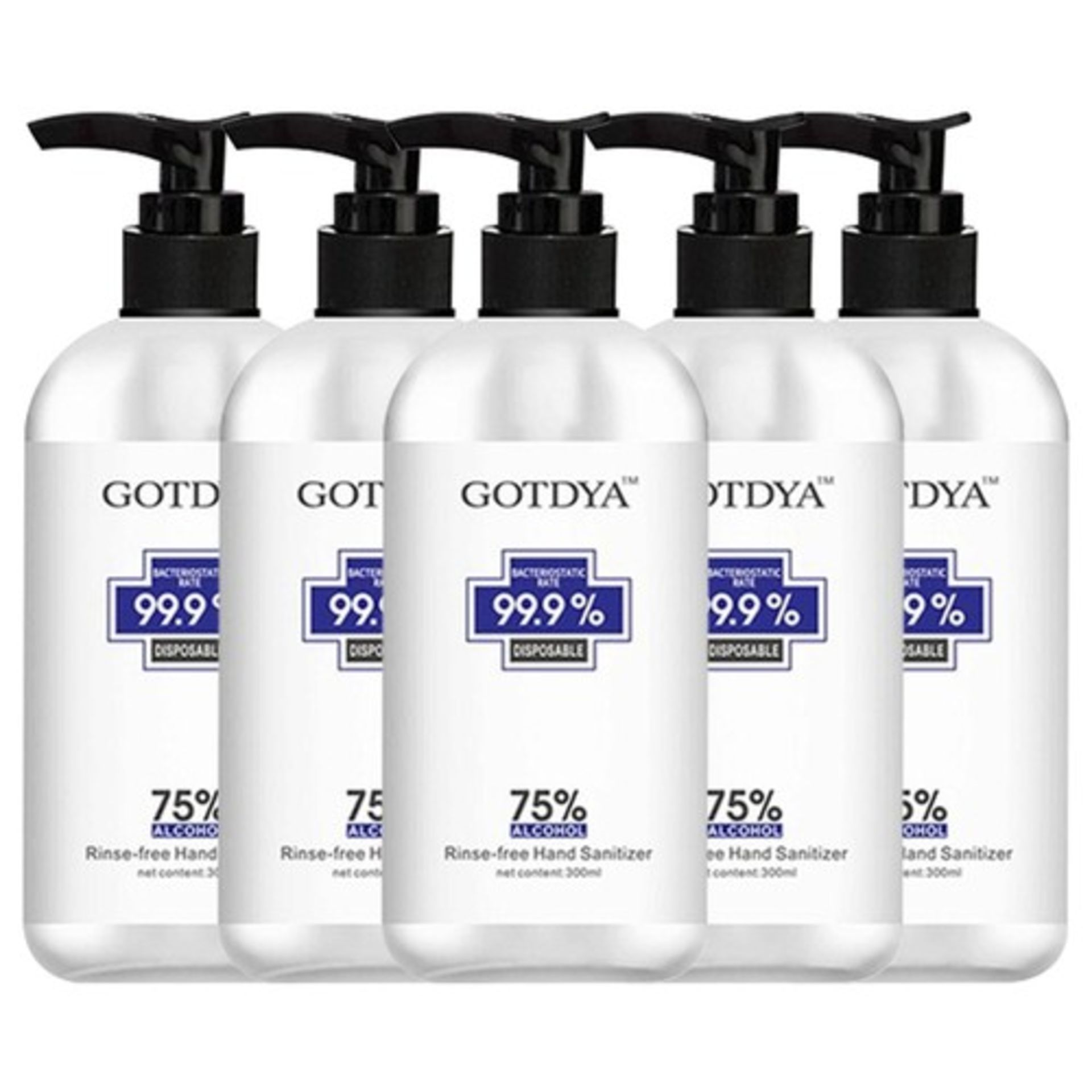 + VAT 10L Gotdya (36 Bottles x 300ml) Hand Sanitizer - 75% Alcohol - Gentle & Non Irritating