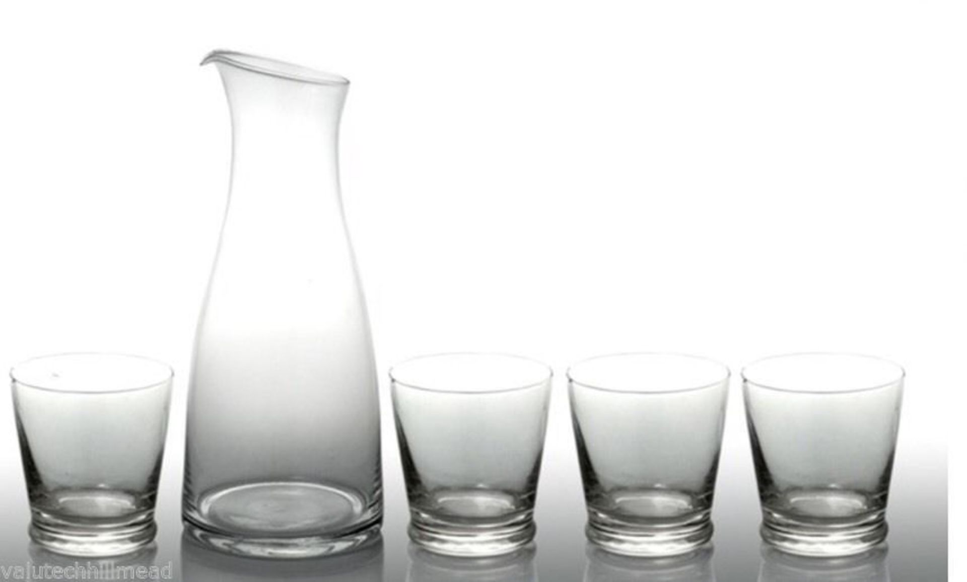 + VAT Brand New Bistro & Co. 1.2L Glass Carafe With 4 Tumblers £19.89 at shoptail