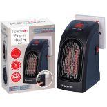 + VAT Brand New Powatron 400w Plug-In Heater-Heats Up To 32C-Heats Up To 250 Sqft