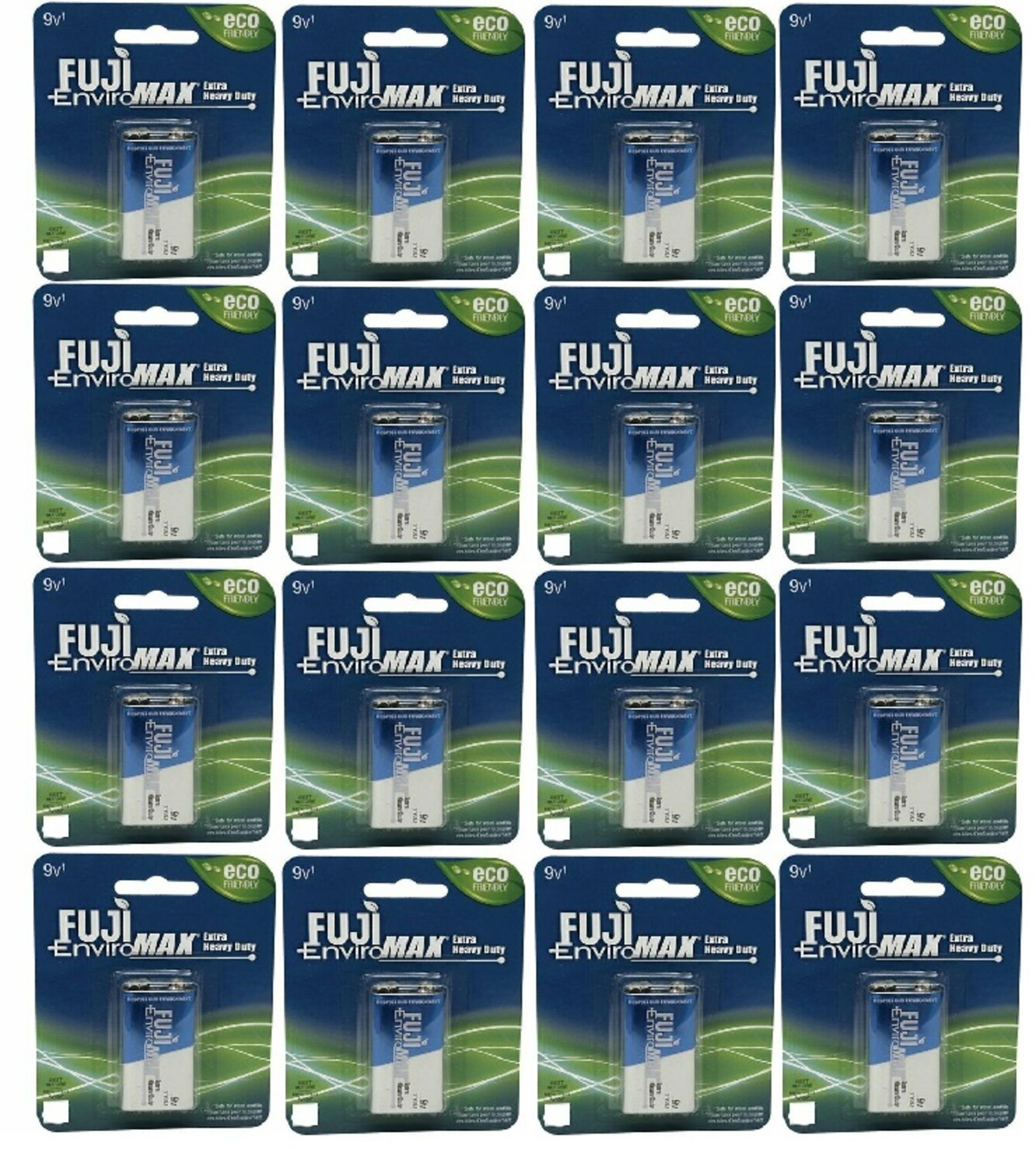 + VAT Brand New 12x Fuji Environmax Extra Heavy Duty 9v Batteries 12 packs of 1 Batteries - Amazon