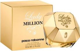 + VAT Brand New Paco Rabanne Lady Million 80ml EDP Spray