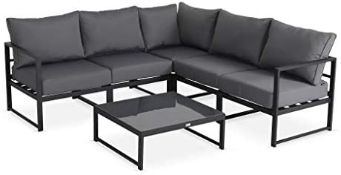 + VAT Brand New Chelsea Garden Company Aluminium Framed Adjustable Five Seater Corner Sofa Set And