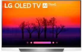 + VAT Grade A LG 55 Inch FLAT OLED ACTIVE HDR 4K UHD SMART TV WITH FREEVIEW HD & WEBOS 3.5 & WIFI -