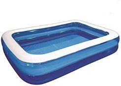 + VAT Brand New 2.6m x 1.75m x 50cm Jumbo Paddling Pool - Made From Heavy Gauge PVC - Repair Patch