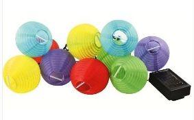 + VAT Brand New Set Of 10 Oriental Solar Hanging Lanterns - ISP £19.83 (Ebay)