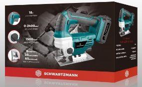 + VAT Brand New Schwartzmann 18V Cordless Jigsaw - 1500mAh Battery Capacity -No Load Speed - 1hr