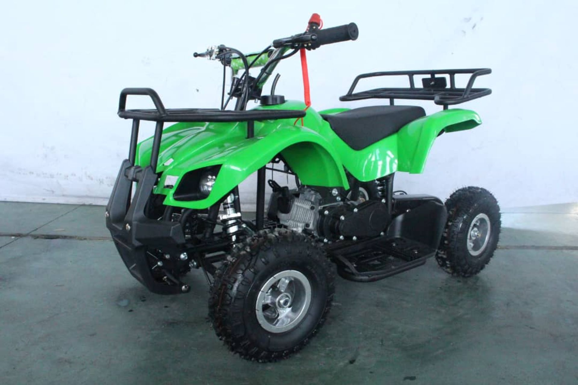 + VAT Brand New 49cc Hawk Mini Quad Bike - Colours May Vary - Full Front And Rear Suspension - Disk - Image 2 of 9