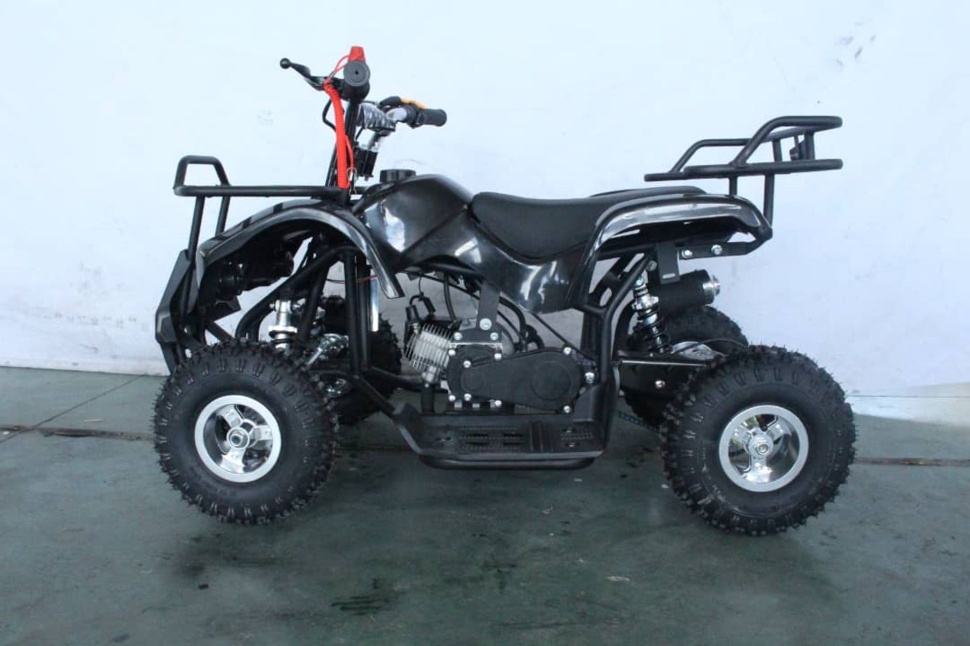 + VAT Brand New 49cc Hawk Mini Quad Bike - Colours May Vary - Full Front And Rear Suspension - Disk - Image 6 of 9
