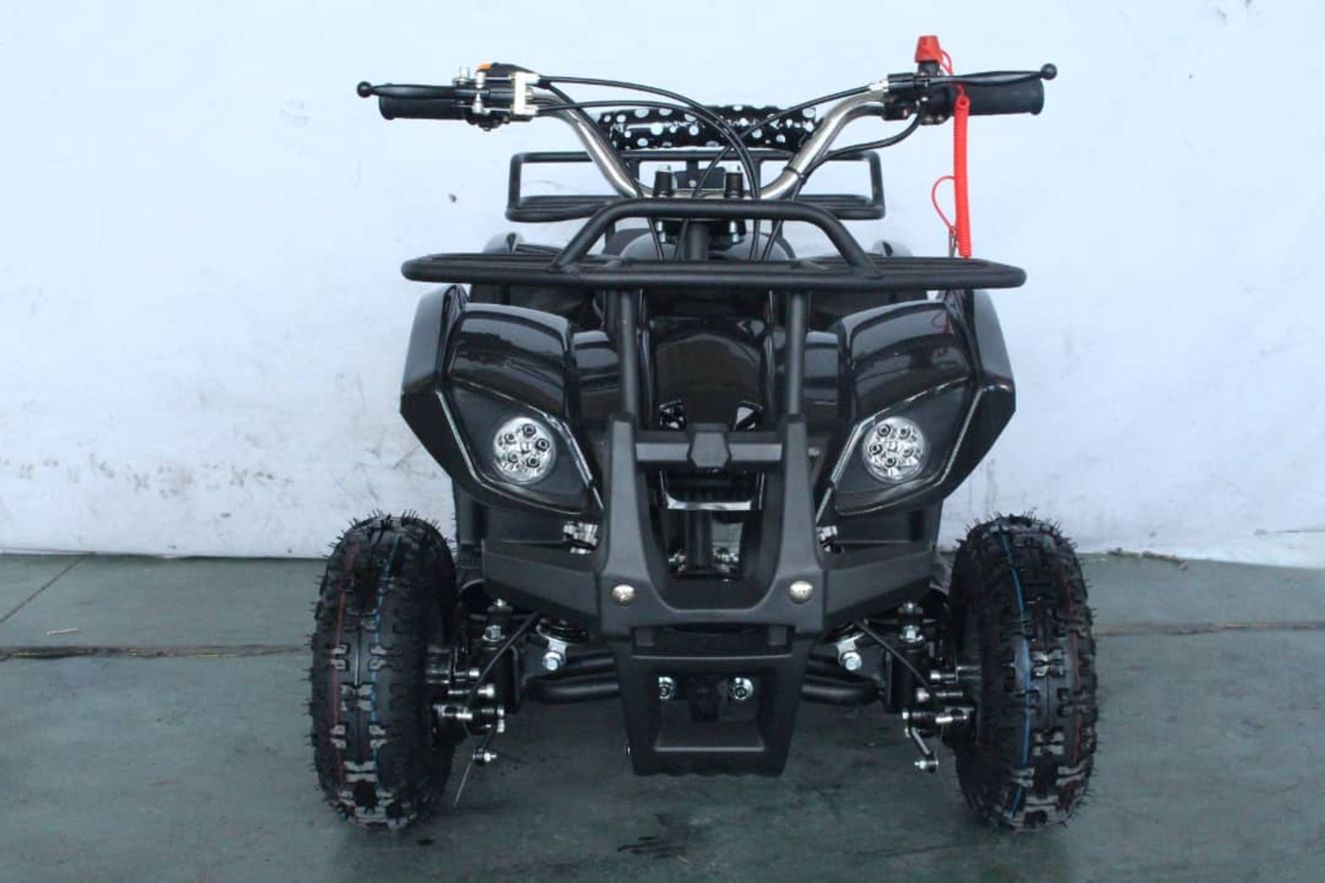 + VAT Brand New 49cc Hawk Mini Quad Bike - Colours May Vary - Full Front And Rear Suspension - Disk - Image 3 of 9