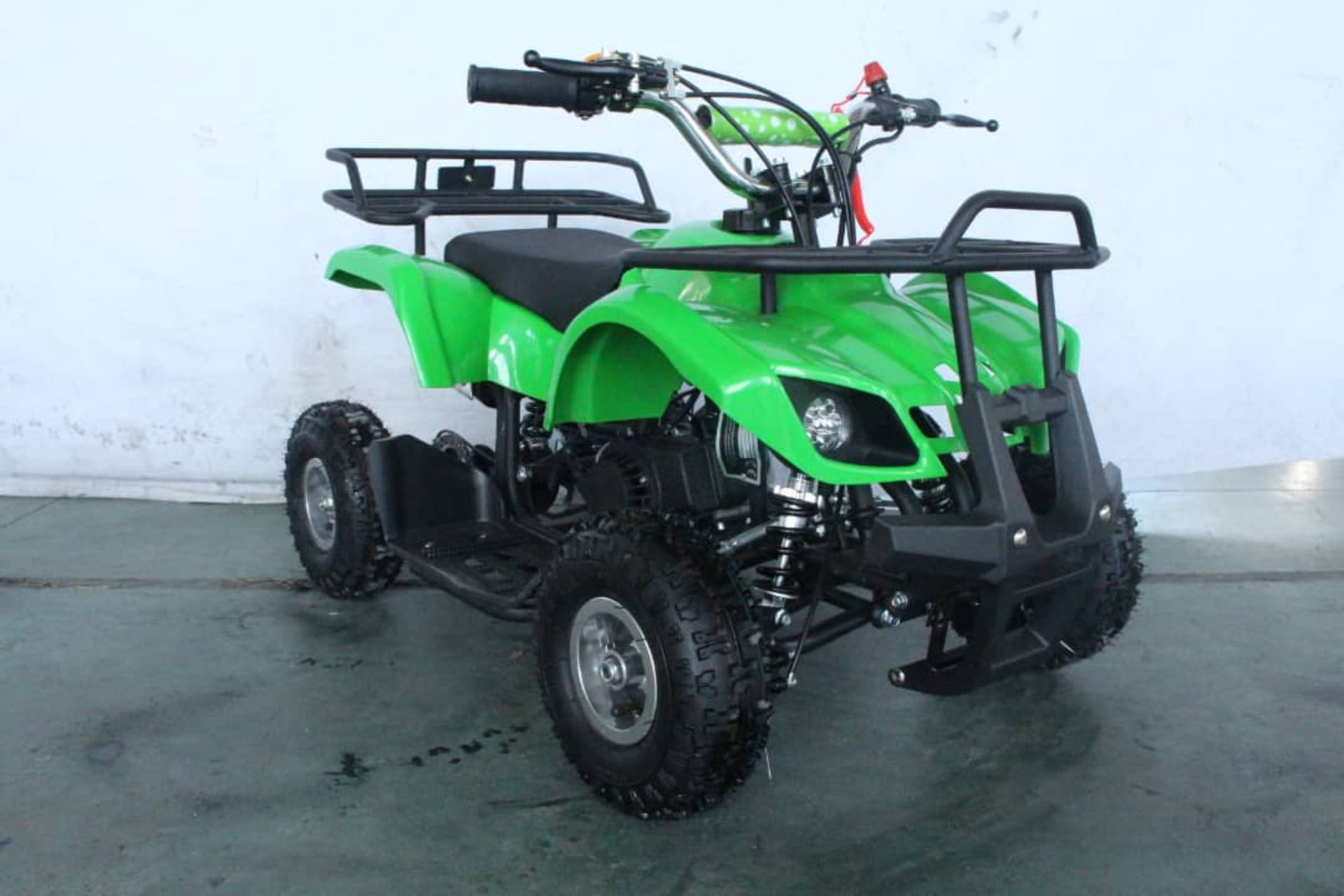 + VAT Brand New 49cc Hawk Mini Quad Bike - Colours May Vary - Full Front And Rear Suspension - Disk - Image 8 of 9