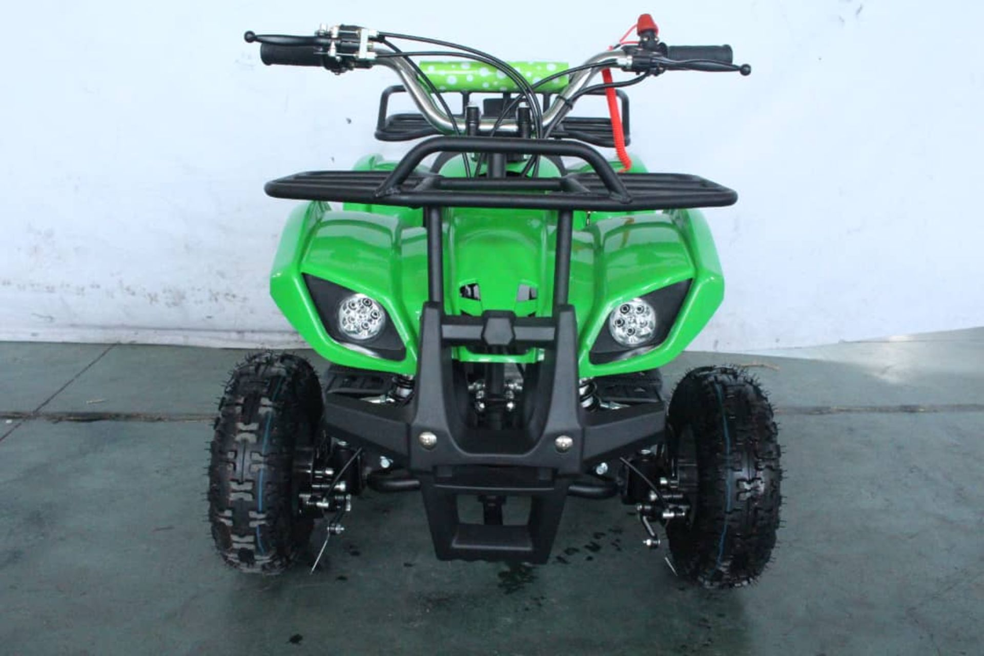 + VAT Brand New 49cc Hawk Mini Quad Bike - Colours May Vary - Full Front And Rear Suspension - Disk - Image 9 of 9