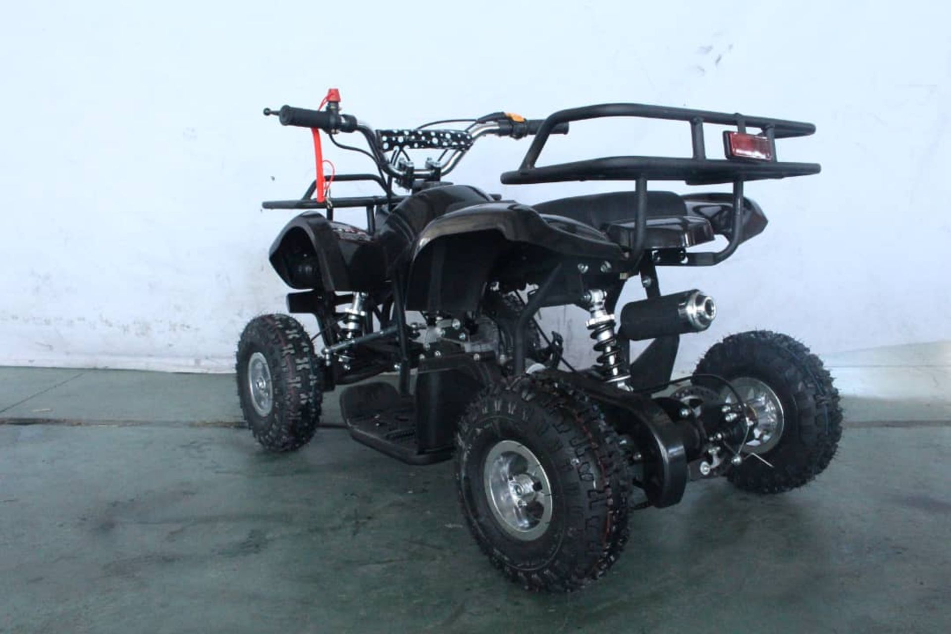 + VAT Brand New 49cc Hawk Mini Quad Bike - Colours May Vary - Full Front And Rear Suspension - Disk - Image 4 of 9