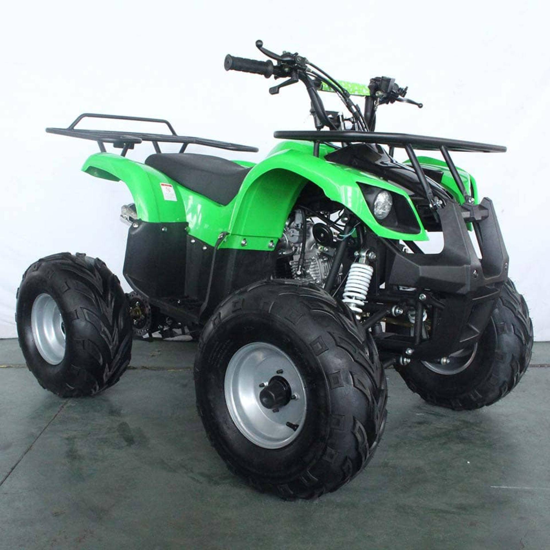 + VAT Brand New 125cc Condor Quad Bike - Four Stroke - Single Cylinder - Front Drum Brakes & Rear - Image 7 of 9