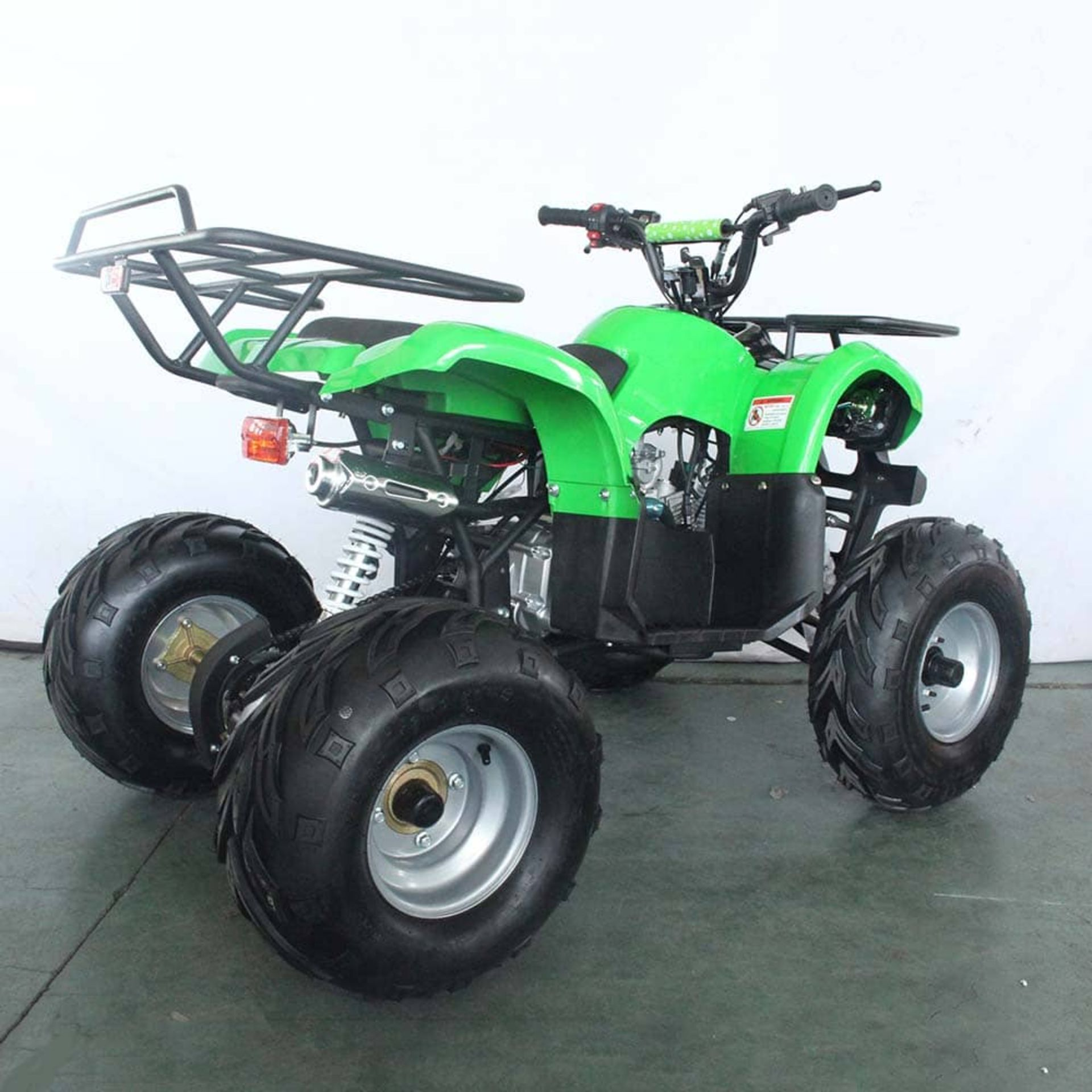 + VAT Brand New 125cc Condor Quad Bike - Four Stroke - Single Cylinder - Front Drum Brakes & Rear - Image 5 of 9