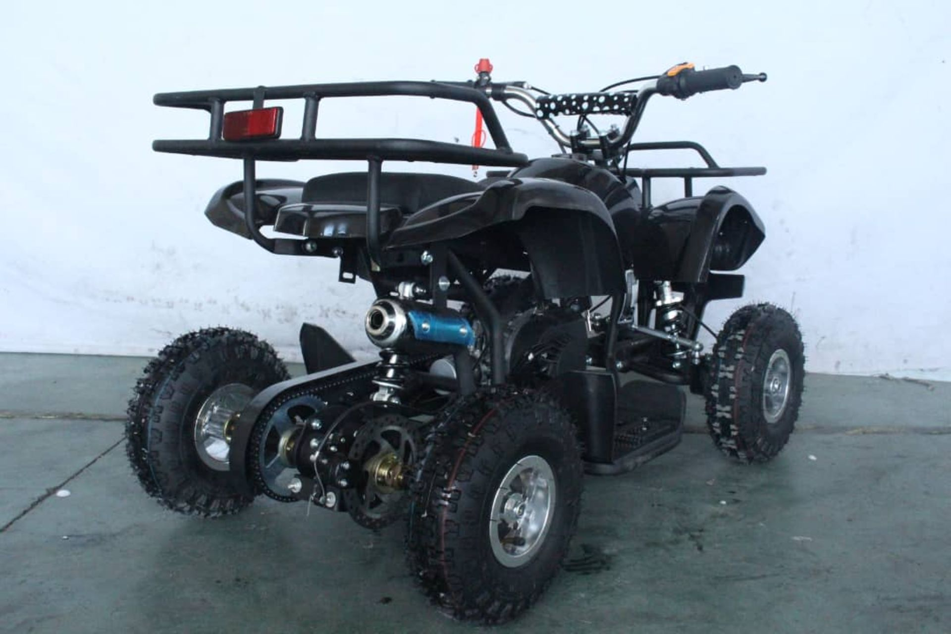 + VAT Brand New 49cc Hawk Mini Quad Bike - Colours May Vary - Full Front And Rear Suspension - Disk - Image 5 of 9