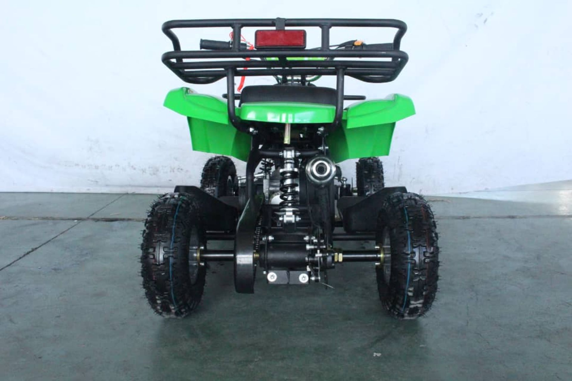 + VAT Brand New 49cc Hawk Mini Quad Bike - Colours May Vary - Full Front And Rear Suspension - Disk - Image 7 of 9