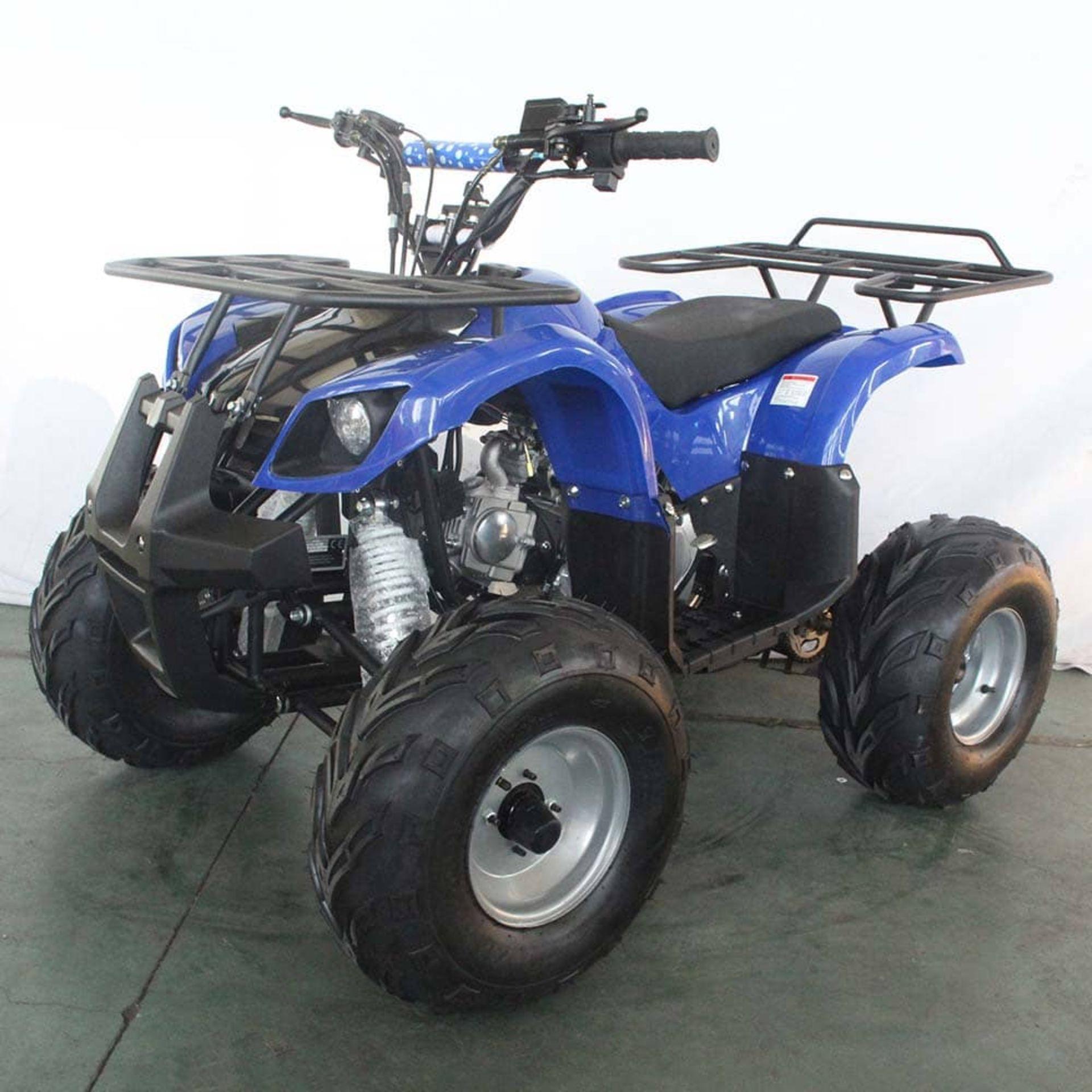+ VAT Brand New 125cc Condor Quad Bike - Four Stroke - Single Cylinder - Front Drum Brakes & Rear - Image 9 of 9