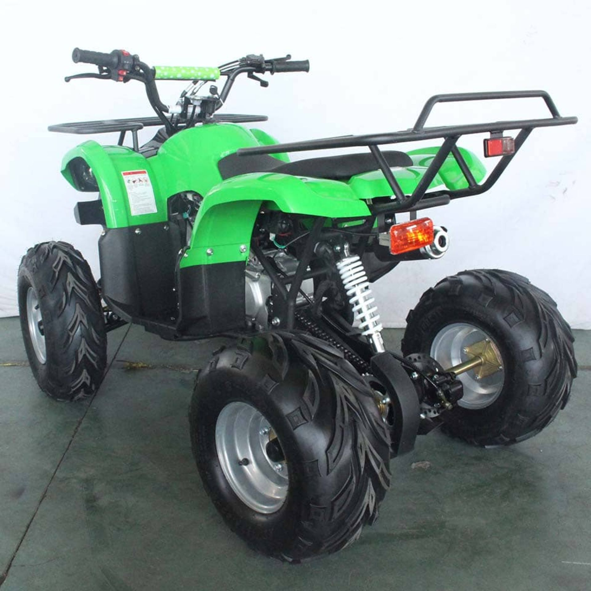 + VAT Brand New 125cc Condor Quad Bike - Four Stroke - Single Cylinder - Front Drum Brakes & Rear - Image 2 of 9