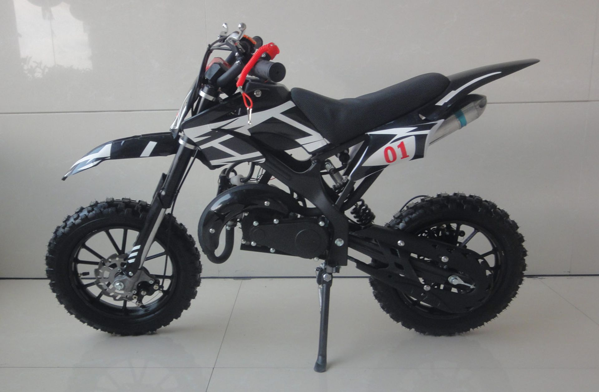 + VAT Brand New 49cc Falcon Mini Dirt Bike - Full Front & Rear Suspension - Disc Brakes - Easy Pull - Image 6 of 6