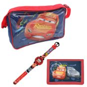 + VAT Brand New Disney Pixar Cars 3 Shoulder Bag - Digital Watch & Wallet Set