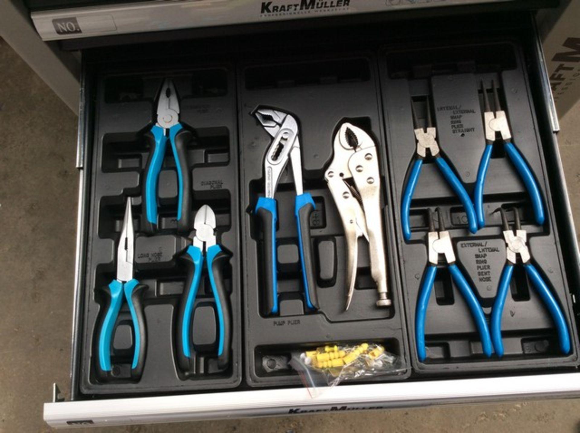 + VAT Brand New Seven Drawer Locking Garage Tool Cabinet With Lockable Castors-Seven EVA Drawers Of - Image 6 of 8