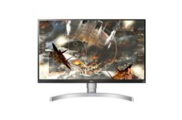 + VAT Grade A LG 27 Inch 4K UHD IPS LED MONITOR WITH HDR 10 - HDMI X 2, DISPLAY PORT X 1 27UK650-W