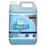 + VAT Brand New 5 Litre Bottle Comfort Blue Skies Fabric Conditioner - Professional - Long Lasting